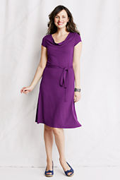 Women's Knit Drape Yoke Dress
