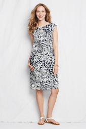 Women's Printed Poplin Shift Dress