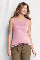 Women's Cotton Interlock Basic Tank Top