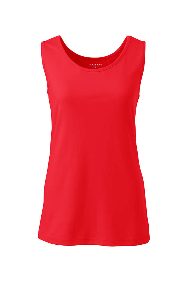Women's Plus Size Cotton Tank Top, Front