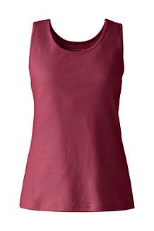 Unifarbenes Interlock-Baumwolltop für Damen