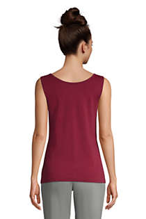 Women's Tall Cotton Tank Top, Back