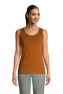 Women's Petite Cotton Tank Top, Front