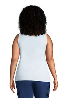 Women's Plus Size Cotton Tank Top, Back