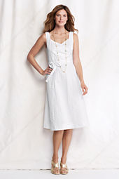 Women's Seersucker Surplice Dress