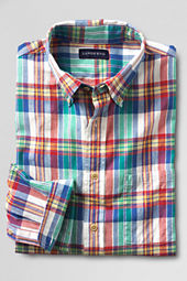 Men's Long Sleeve Blue Star Madras Shirt