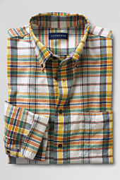 Men's Long Sleeve Light Emerald Madras Shirt