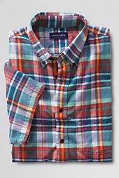 Men's Short Sleeve Island Emerald Madras Shirt