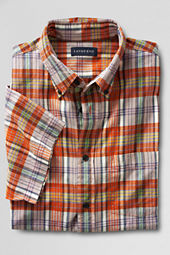 Men's Short Sleeve Orange Spark Madras Shirt