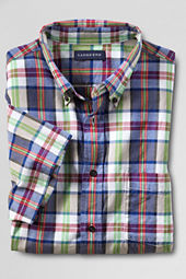 Men's Short Sleeve Blue Star Madras Shirt