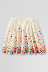 Girls' Falling Dot Woven Skirt