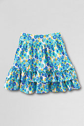 Girls' Patterned Full Ruffle Tiered Skort