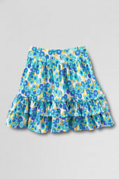 Girls' Full Ruffle Pattern Tiered Skort