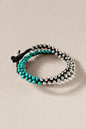 Women's Double Wrap Beaded Bracelet