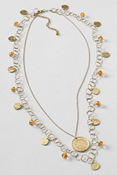 Women's Coin Charm Necklace