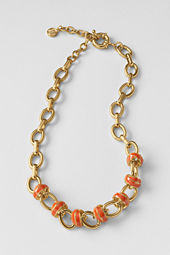 Women's Enamel Knot Chain Necklace