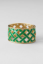 Women's Woven Enamel Bangle