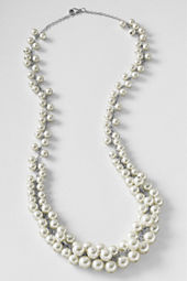 Women's Pearl Cluster Necklace