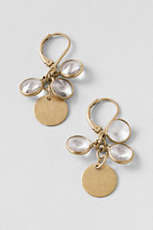 Women's Stone Disc Drop Earrings