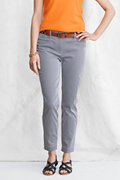 Women's Striped Stretch Ankle Chinos