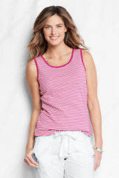 Women's Striped Cotton Interlock Vest