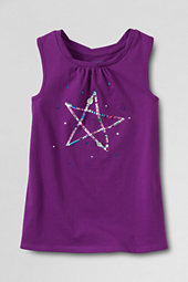 Girls' Embellished Star Twisted Graphic Vest Top