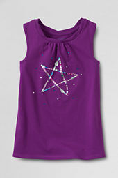 Girls' Appliqued Twisted Tank Top