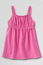 Girls' Plain Gathered Vest Top