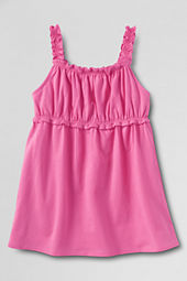 Girls' Gathered Bodice Solid Tank Top