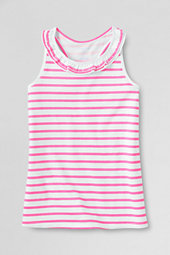 Girls' Neon Stripe Ruffle Racer-back Tee