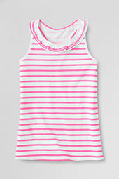 Girls' Neon Stripe Ruffle Tank Top