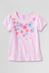 Girls' Short Sleeve Picot Edge Spirograph Graphic T-shirt