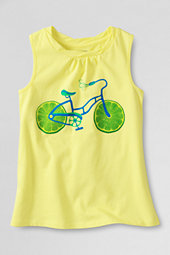 Girls' Lime Cycle Scented Twisted Graphic Vest Top