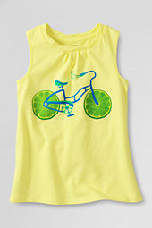 Girls' Scented Lime Cycle Graphic Twisted Tank Top