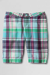 Girls' Madras Bermuda Shorts