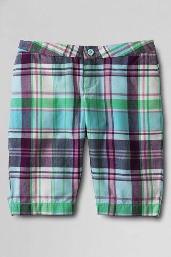 Little Girls' Madras Bermuda Shorts