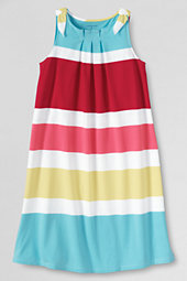 Girls' Cotton Jersey Tie Shoulder Sundress