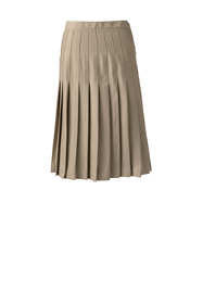 School Uniform Women's Solid Pleated Skirt Below the Knee