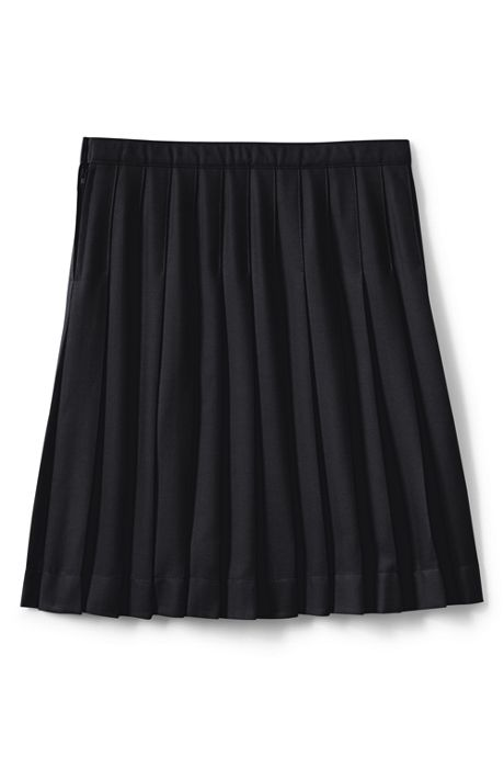 Little Girls Solid Pleated Skirt Below the Knee