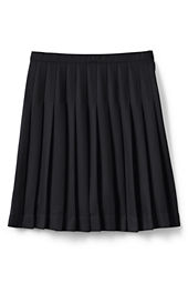 School Uniform Girls' Solid Pleated Skirt (Below The Knee)