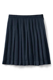 School Uniform Little Girls Solid Pleated Skirt Below the Knee