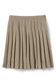 Girls Solid Pleated Skirt Below the Knee