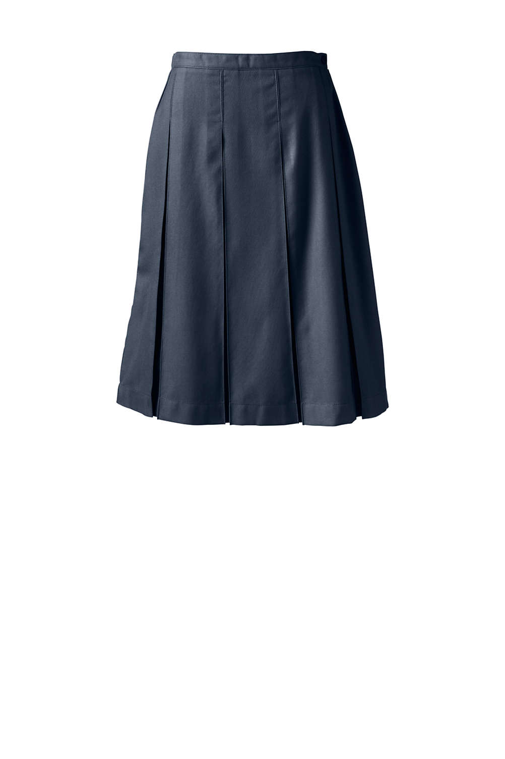 83b097c107f School Uniform Solid Box Pleat Skirt Below the Knee from Lands  End