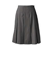 School Uniform Women's Solid Box Pleat Skirt Below the Knee