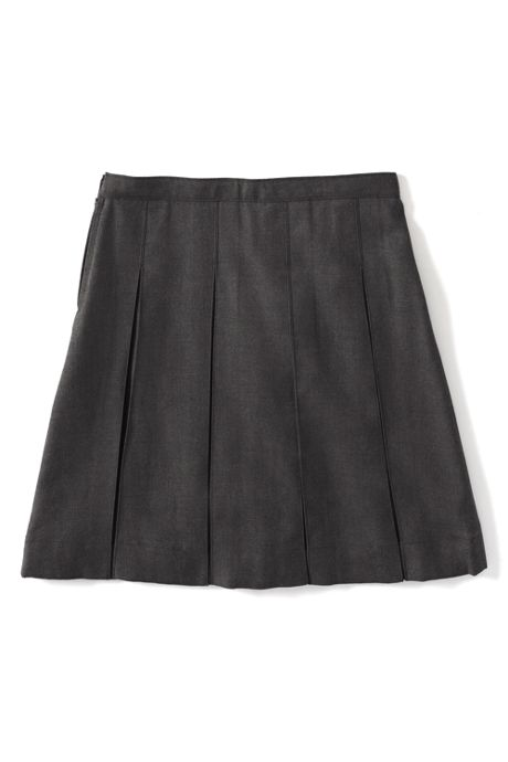 Little Girls Solid Box Pleat Skirt Below the Knee