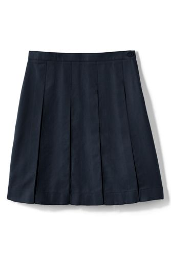 Little Girls' Box Pleat Skirt (Below The Knee)