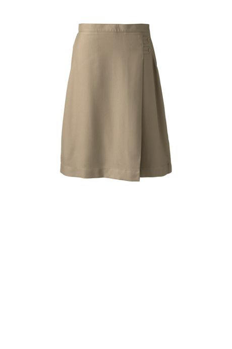 School Uniform Women's Tall Solid A-line Skirt Below the Knee