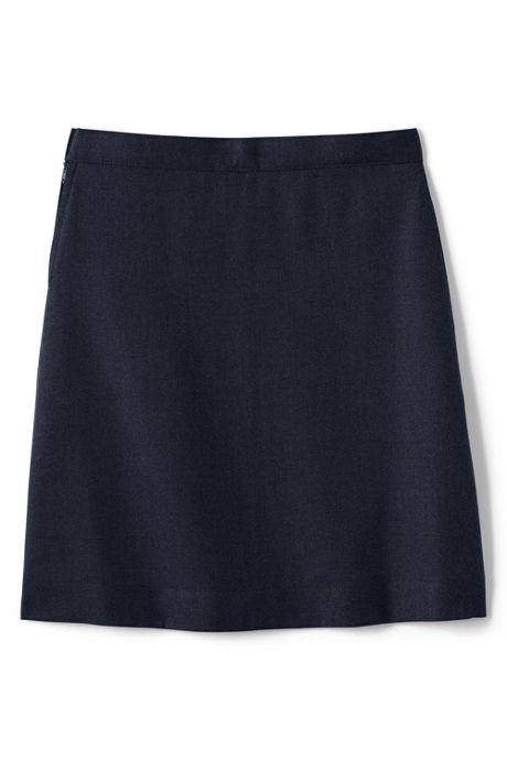 Girls Plus Solid A-line Skirt Below the Knee