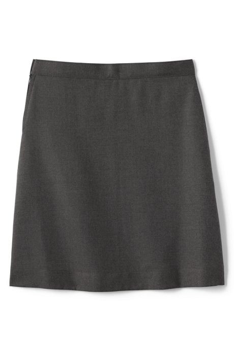 School Uniform Girls Slim Solid A-line Skirt Below the Knee