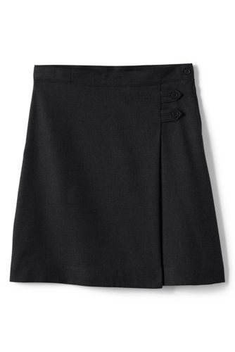 School Uniform Solid A-line Skirt Below the Knee from Lands' End